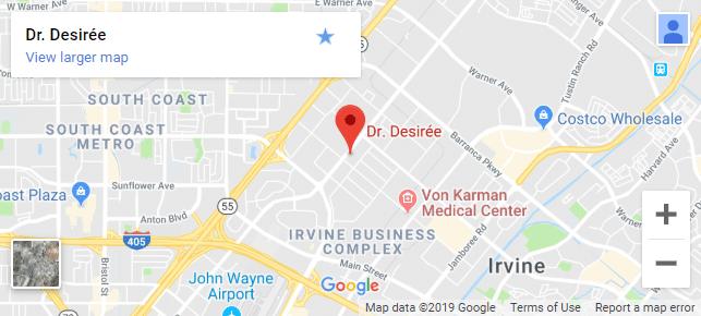 Female Chiropractor Irvine CA Clinic Map