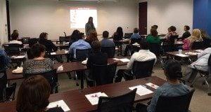 Female Chiropractor Irvine CA Desiree Edlund Lunch Learn Teaching