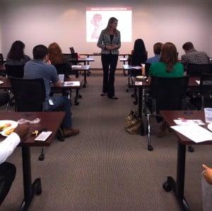Female Chiropractor Irvine CA Desiree Edlund Lunch Learn